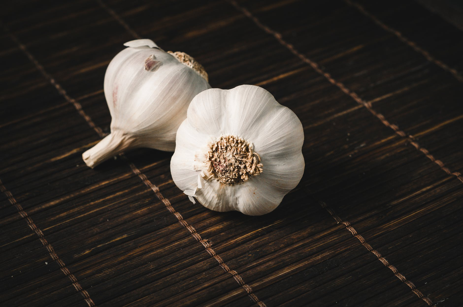 two white garlics
